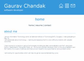 Gauravchandak.me thumbnail