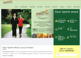 Gaursportswoodsector79.in thumbnail