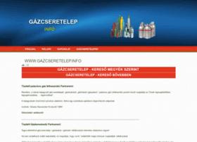 Gazcseretelep.info thumbnail