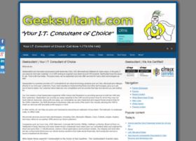 Geeksultant.com thumbnail