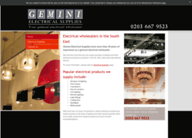 Geminielectricalsupplieslondon.co.uk thumbnail