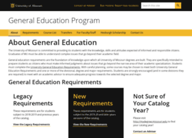 Generaleducation.missouri.edu thumbnail