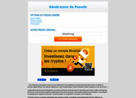 Generateur Pseudo Com At Wi Generateur De Pseudo Original Exemple Idee De Pseudo