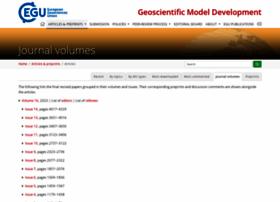 Geosci-model-dev.net thumbnail