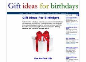 Giftideasforbirthdays.co.uk thumbnail