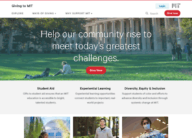 Giving.mit.edu thumbnail