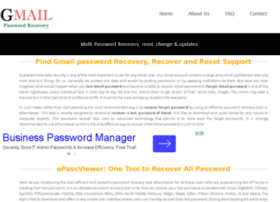 how to recover gmail apssword please help