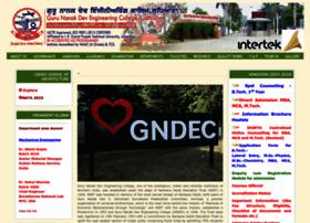 Gndec.ac.in thumbnail