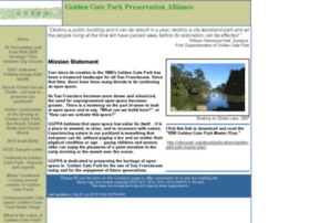Goldengateparkpreservation.org thumbnail