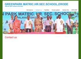 greenparkschoolerode.com at WI. Contact us