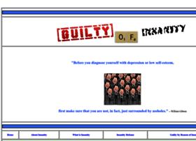 Guiltyofinsanity.com thumbnail
