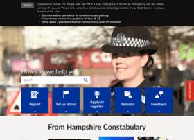Hampshire.police.uk thumbnail