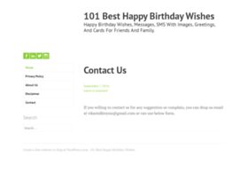Happybirthdaywishes101.wordpress.com thumbnail