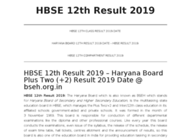 Hbse12thresult2019.in thumbnail
