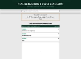 Healingnumbers.info thumbnail