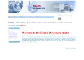 Healthdictionary.info thumbnail