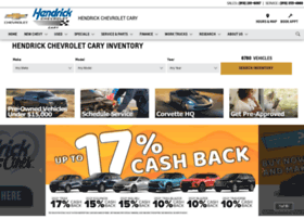 Hendrickchevrolet Com At Wi Hendrick Chevrolet Cary New Chevrolet Used Dealership In Nc