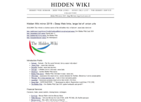 Hiddenwiki.me thumbnail