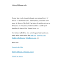 Historyofsoccer.info thumbnail