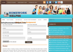 Help for homework website