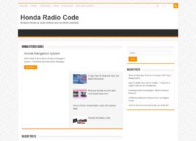 Hondaradiocode.net thumbnail