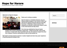 Hopeforharare.org thumbnail