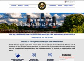 Houstonburglaralarmpermits.org thumbnail