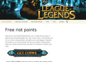 howtogetfreeriotpoints.com at WI. How to get free riot ...
