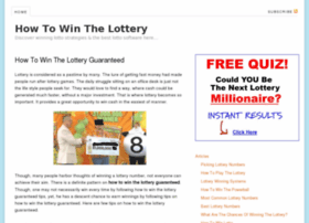 Howtowinthelotteryblog.org thumbnail