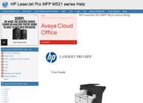 Hp-laserjet-pro-mfp-m521-series.printerdoc.net thumbnail