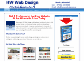 Hwwebdesign.co.za thumbnail
