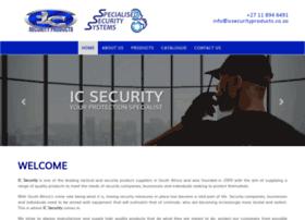 Icsecurityproducts.co.za thumbnail