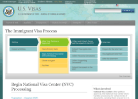 Immigrantvisas.state.gov thumbnail