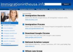 Immigrationintheusa.info thumbnail
