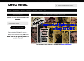 Immortalephemera.com thumbnail