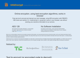 infoencrypt com at WI  Online AES 128 Encrypt and Decrypt