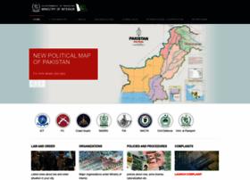 Interior.gov.pk thumbnail