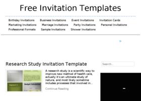 Invitationtemplatesonline.org thumbnail