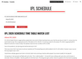 ... .in at WI. IPL 2017 Schedule, Time table,match list, fixtures