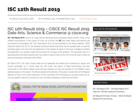 Isc12thresult2019.in thumbnail
