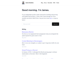Jameschambers.co thumbnail