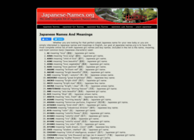 Japanese-names.org thumbnail