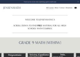 Jensenmath.ca thumbnail