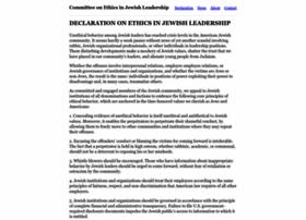 Jewishleadershipethics.org thumbnail