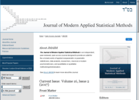 Jmasm.org thumbnail