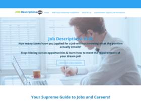 Jobdescriptionshub.com thumbnail