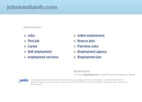 Jobsinindiainfo.com thumbnail
