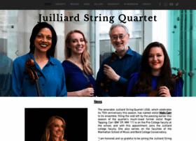 Juilliardstringquartet.org thumbnail