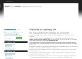 Justproxy.co.uk thumbnail