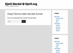 Kjetil.org thumbnail
